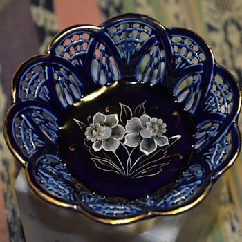Tiny Blue Dish - ?? - Art Pottery