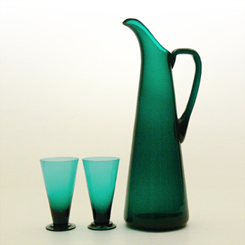 SV jug and glasses, Nanny Still (Riihimen, 1950) - Art Glass
