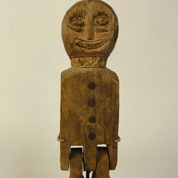 Carved Wooden Folk Art Articulated Dancing Man Limberjack Collection Jim Linderman