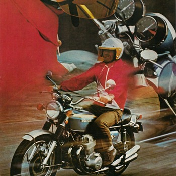 "1969 - ""Honda 750-Four"" Sales Brochure - Paper"