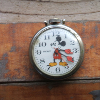 197o's Pie Eyed Mickey Pocketwatch - Pocket Watches
