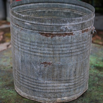 Large Industrial Bucket converted to a planter