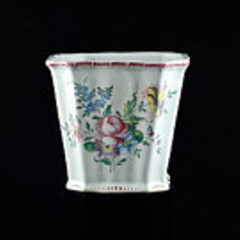 French Faience Cachepot - Art Pottery