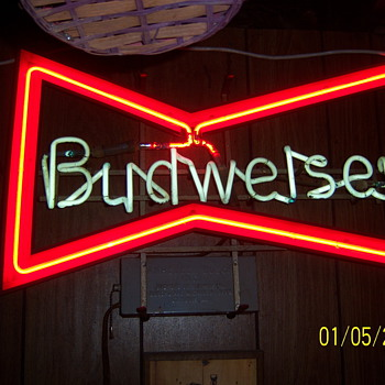 Old budwiser neon sign - Breweriana
