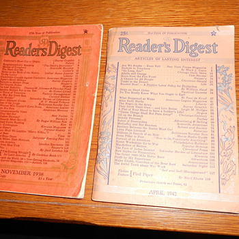 Reader's Digests from 30s & 40s