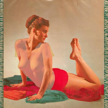 "1957 - ""Risqué"" Garage-type Pin-up Calender"