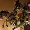 Chinese Porcelain Horse Dragon Lamp