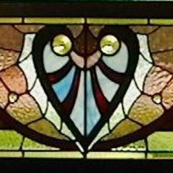 1890's American Victorian Stained Glass Window - Art Glass