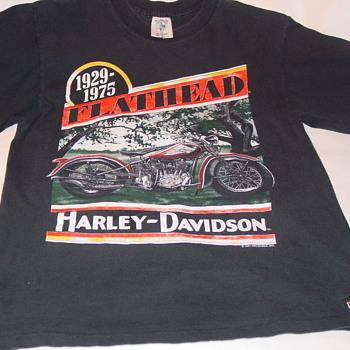 VTG T Shirt Harley Davidson Flathead Motorcycle 1991 Holoubek Hourglassvintageboutique oneBay - Mens Clothing