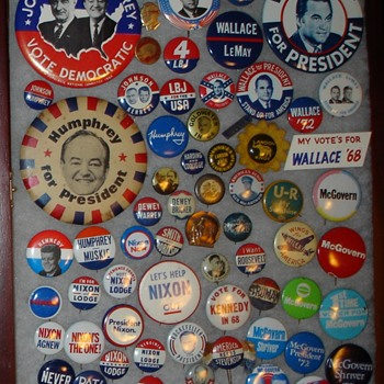 USA Political Pins - A Blast From the Past