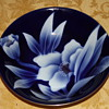 Japan Blue floral and gold bowl
