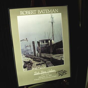 """Publicite Poster,Park Shore Gallery""""Robert Bateman Autograph"""""""