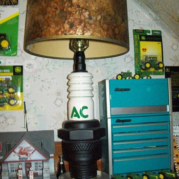 AC Spark plug lamp - Advertising