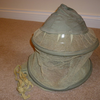 British WW11 Jungle Warfare anti-mosquito helmet net - Military and Wartime