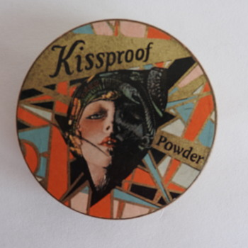 Art Deco Kissproof Cosmetics Box- 1920s