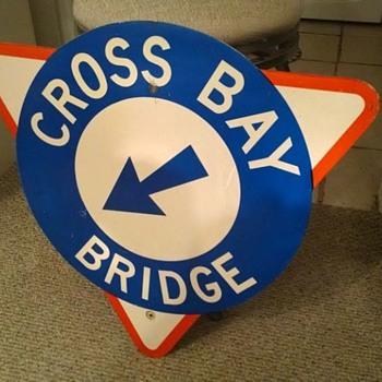 Cross Bay Bridge shield sign - Signs