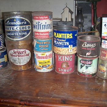 Old containers and tins - Advertising