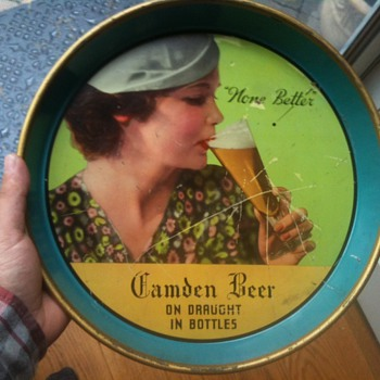 Camden Beer Tray 1940&#039;s - Breweriana