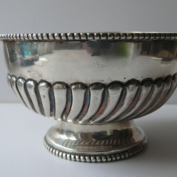 a silver bowl... warner brother dehli, india - Sterling Silver