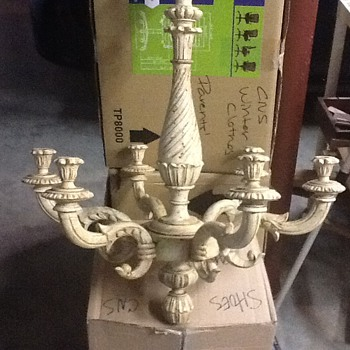 French wooden chandelier - Lamps