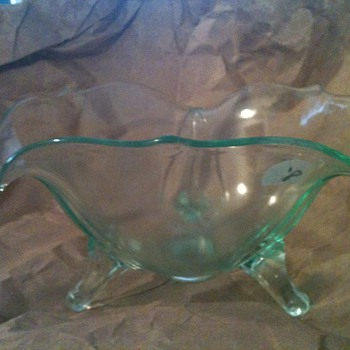 FENTON DEPRESSION GLASS AQUAMARINE? - Glassware