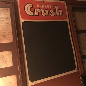 Orange Crush menu board 1950's