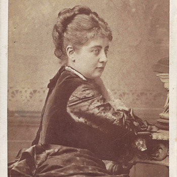Austrian Soprano Pauline Lucca CDV by Rocher of Chicago, Ill.