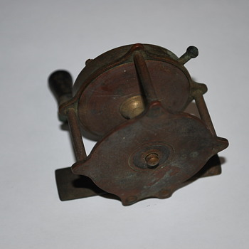 Antique Brass Fishing Reel - Fishing