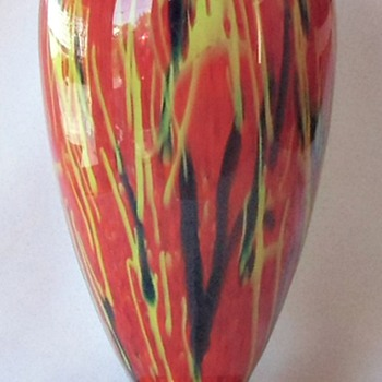 The Red Peloton Rückl Glass Collection Grows - Another Large Vase & Shape - Art Glass