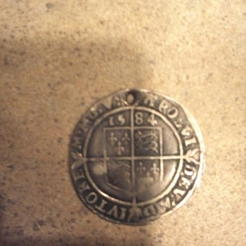1584 Queen Elizabeth I Shilling