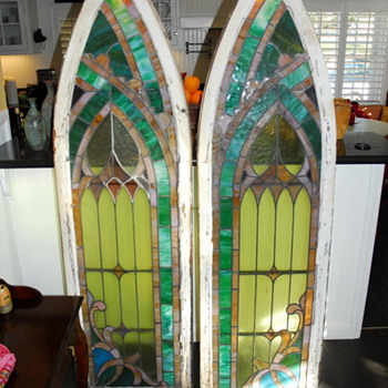 110 year old Pennsylvania Church Steeple windows. - Art Glass