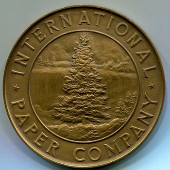 International Paper Corporation 25 Year Medal - Advertising