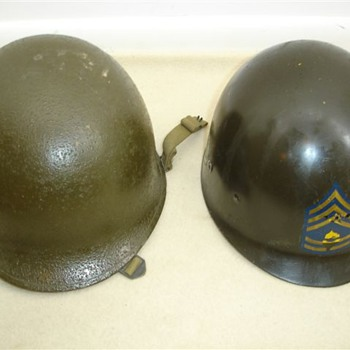WWII M1 helmet from Korean War era 1950's