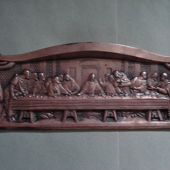 Poured Copper Plaque - Last Supper