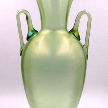 Tall Loetz Olympia Vase with Handles PN I- 3145