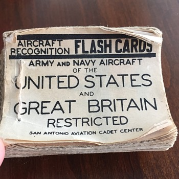 WW2 US & Great Britain Airplane Identification Flash Cards