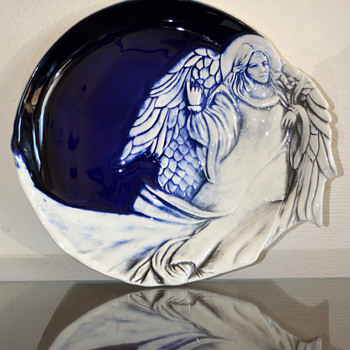 Angel Plate - Art Pottery