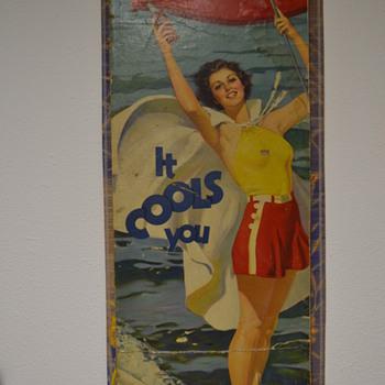 coca-cola cardboard 1936 poster - Coca-Cola