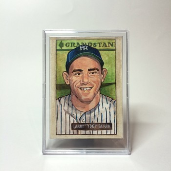 Handmade Yogi Berra Card
