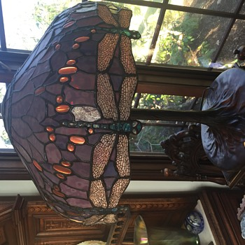 Dragonfly Tiffany Style Lamp