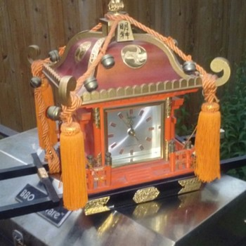 Japanese shrine clock
