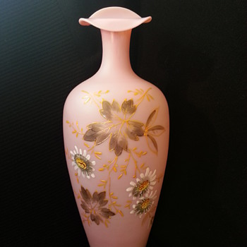 Help Needed on Newly Acquired Pink Vase!! - Art Glass