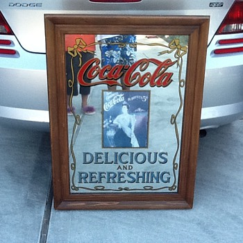 Old Coke Mirror