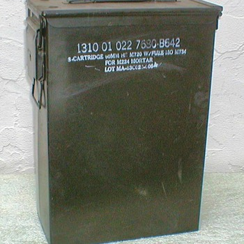 Military Mortar Cartridges Box