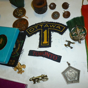Vintage scouting items - Medals Pins and Badges