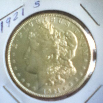 Raw 1921 Morgan Silver Dollar