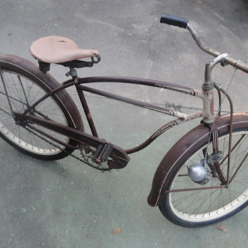 1951 Schwinn Skip-Tooth Cruiser Bicycle - Outdoor Sports