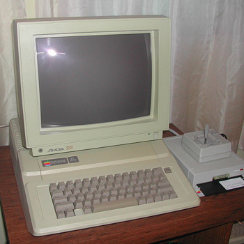 My old Apple IIe - 1983 tech - still runs like a top!