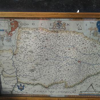 Saxton Map of Norfolk 1574