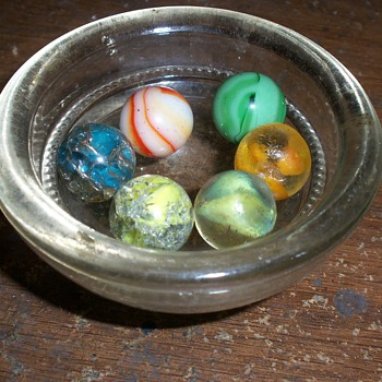 Antique Pontil Marbles I found in the forest by an 1855 farm house. - Art Glass